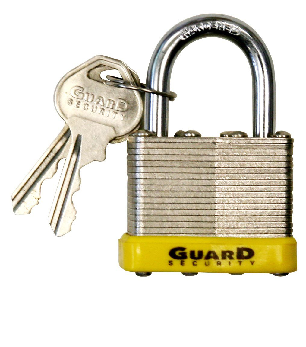 Guard Security 740 Laminated Steel Padlock with 1-1/2-Inch Standard Shackle