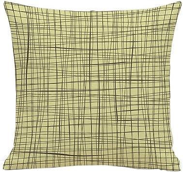 1 Pair Cotton Pillow Cushion Cover Case Rectangle European Style Pillowcases