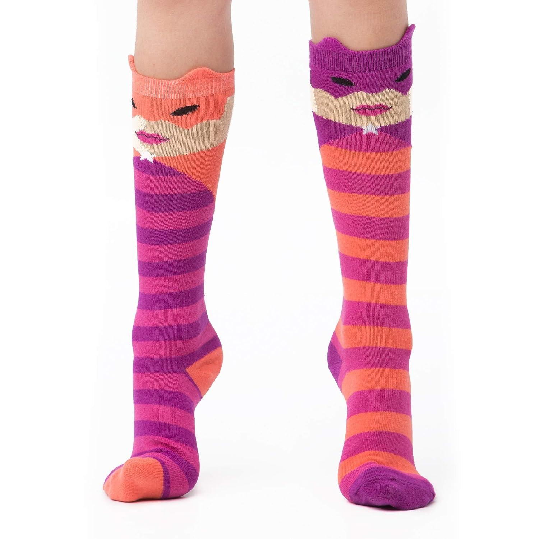 Adults 3-10, Black 3 Socks LittleMissMatched Hero Knee High Socks