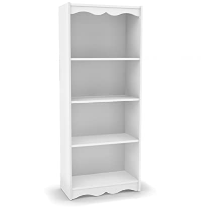 Sonax S 117 NHL Hawthorn Tall Bookcase 60quot Frost White