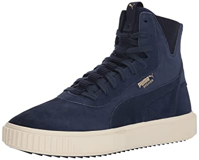 8a8c3c321392 PUMA Men s Breaker Hi Sneaker Peacoat-Whisper White 4.5 ...