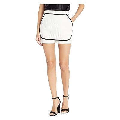 BCBGeneration Women's Contrast Short, Optic White, 0   .com