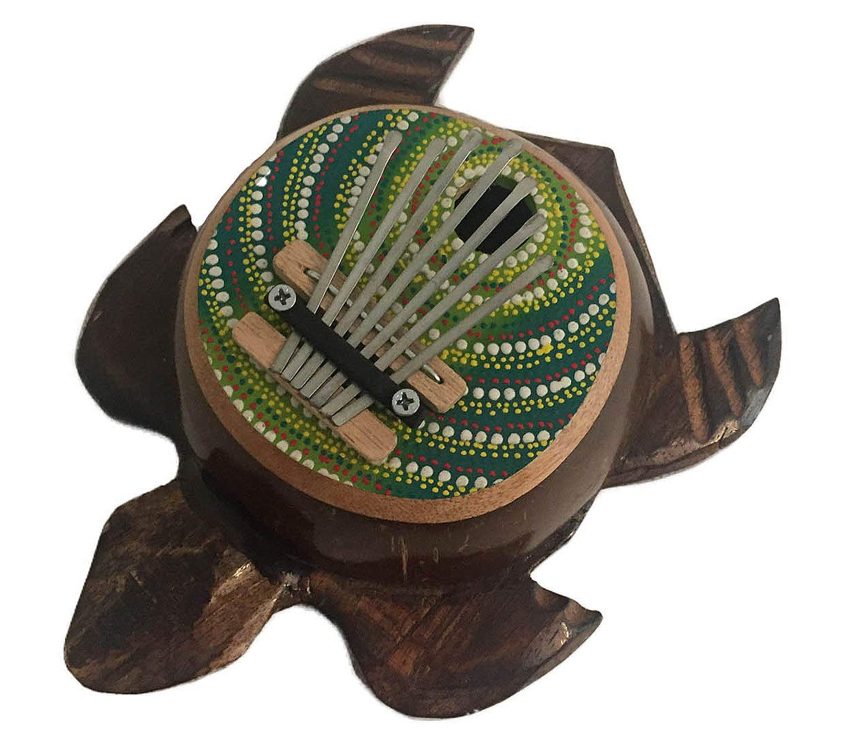 Turtle Shaped Kalimba Mbira Thumb Piano,Kalima Percussion, JIVE BRAND (Turtle - Painted) by Jive