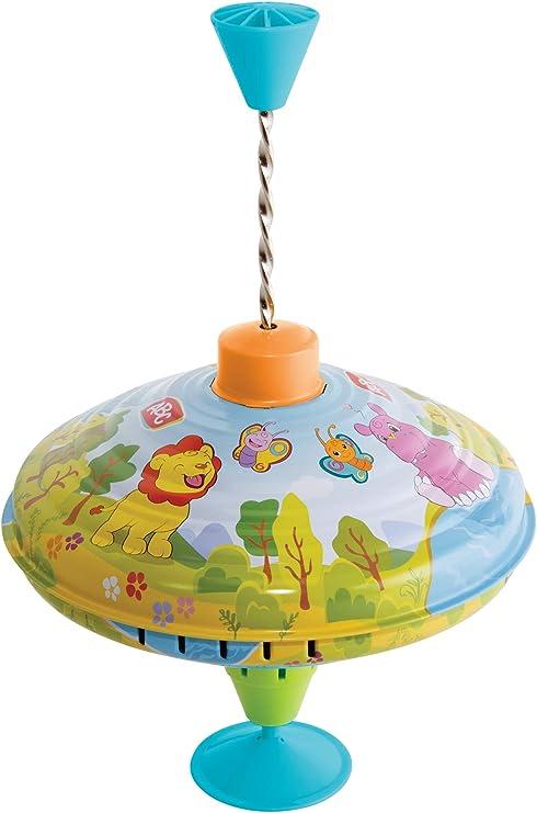 Metall Kreisel Schwungkreisel aus Blech Herbests Brummkreisel 14 cm Blechkreisel mit Spitze Spielzeugkreisel f/ür Kinder ab 18 Monate klassischer Pumpkreisel mit Auto Motiv