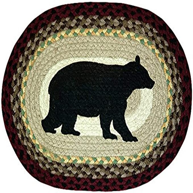 Earth Rugs 48 395 Cabin Bear Oval Placemat 13 By 19 Inch Amazon Ca Home Kitchen