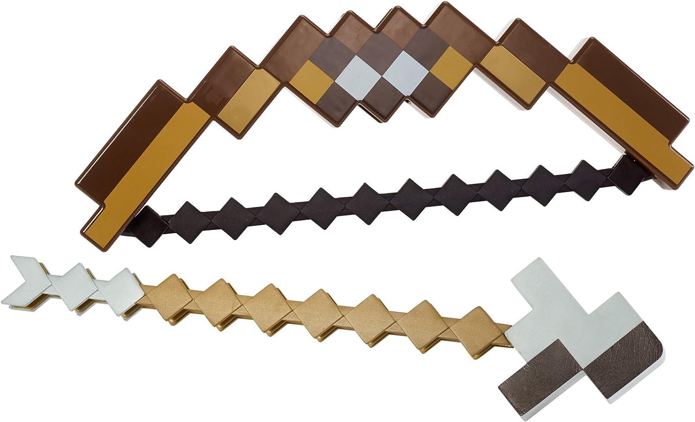2 in 1 Spielzeug Minecraft Diamond Sword Pickaxe Hoe Spielfiguren Action Figuren