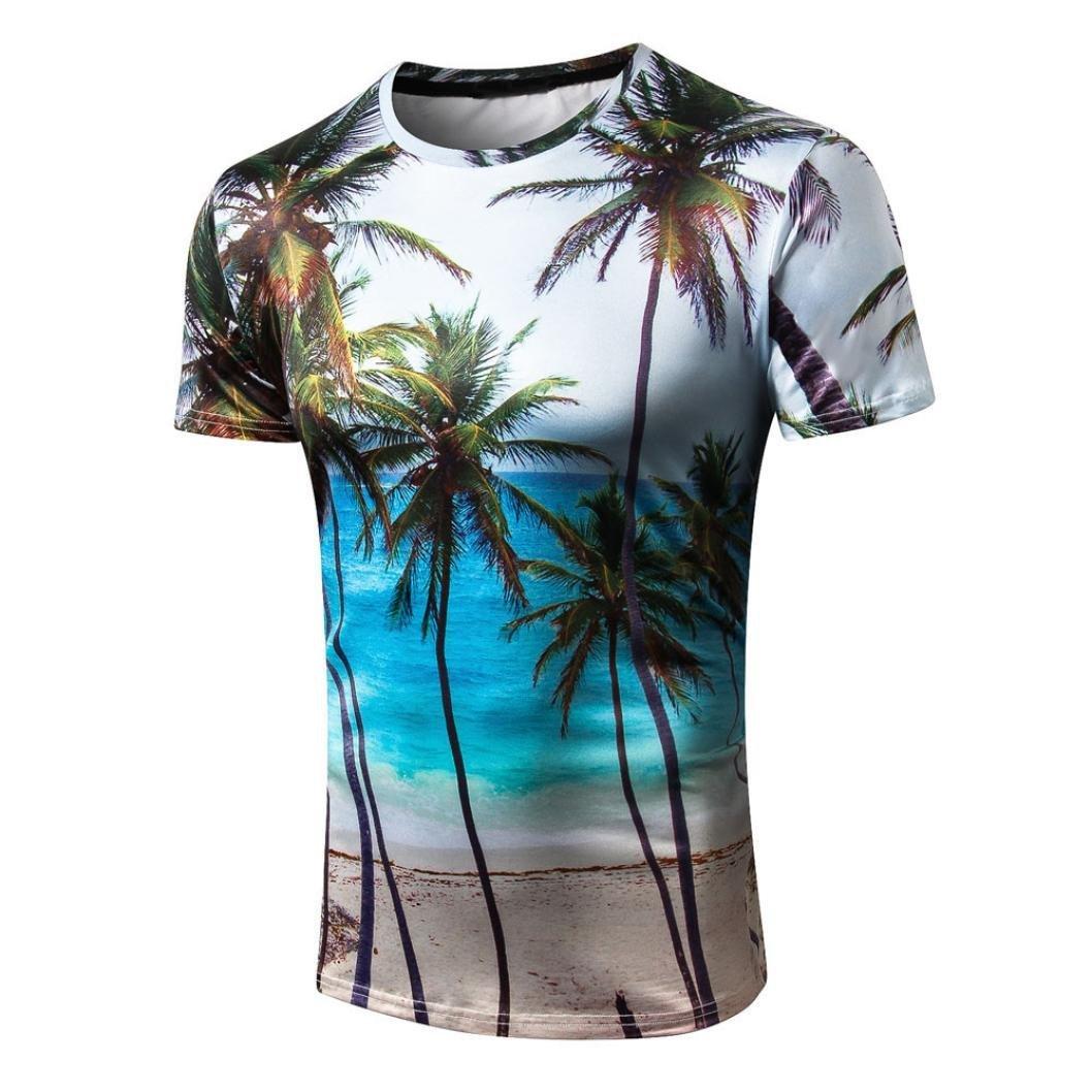 HCFKJ T-Shirt Blusen Herren Sommer-beil/äufige d/ünne Lange H/ülsen-Hemd-Spitzenbluse der Pers/önlichkeits-M/änner