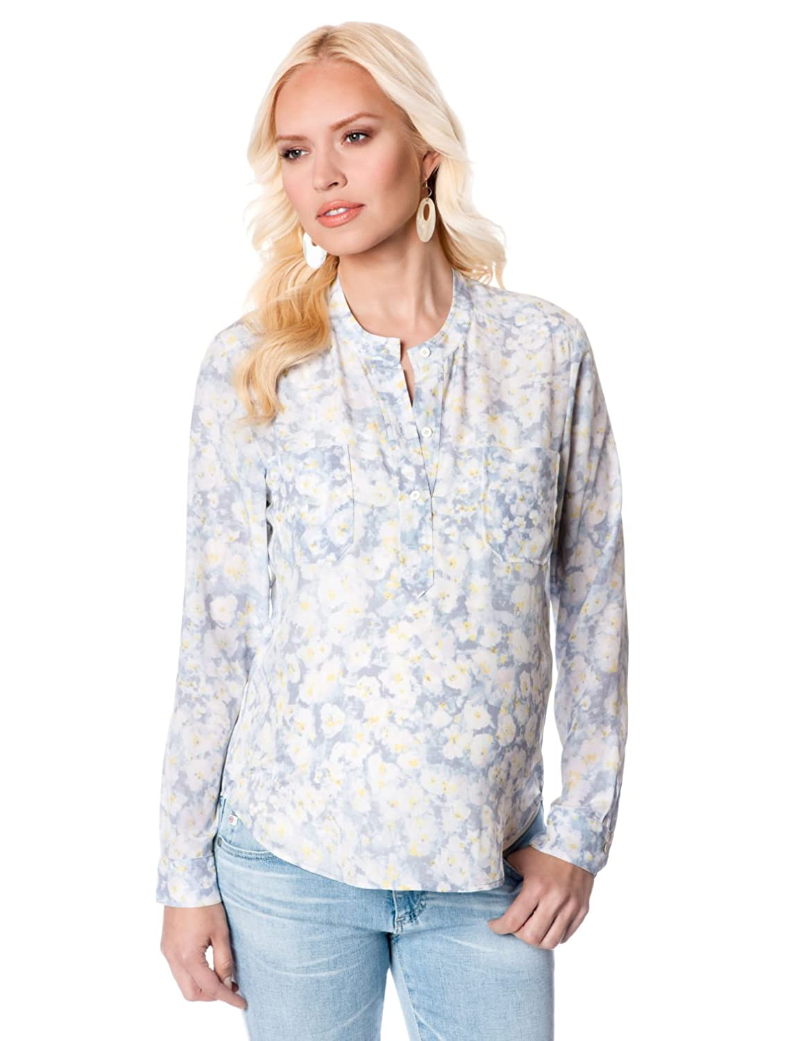 Button Front Maternity Blouse