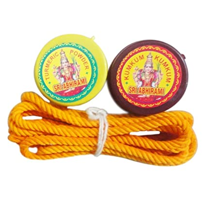 Shri Abhirami Pure Natural Original Kumkum Powder, Turmeric Powder