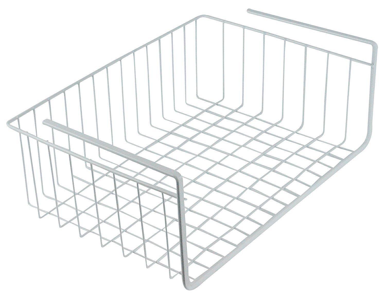 Metal Under Shelf Basket Storage Organizer Kitchen Pantry Closet Space Saver 16'' W x 10.25'' D x 5.3'' H