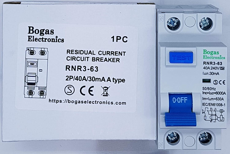 Clase A y 6kA. 30 mA 2P Interruptor diferencial superinmunizado SI 40 A