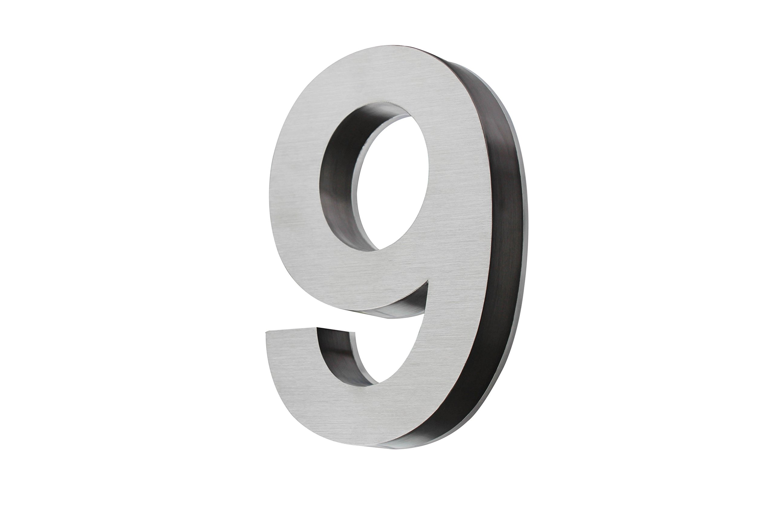Backlit LED House Numbers (8 Inch Blue) Big, Modern Address Signs for Homes   Soft, Exterior Glow   Brushed Stainless-Steel Finish   Weather Resistant, Durable, Wired   by JELSCO (9)