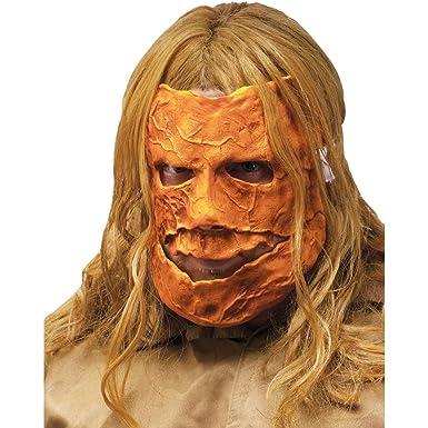Halloween 2 Rob Zombie Mask.Fun World Michael Myers Asylum Escape Pumpkin Adult Mask