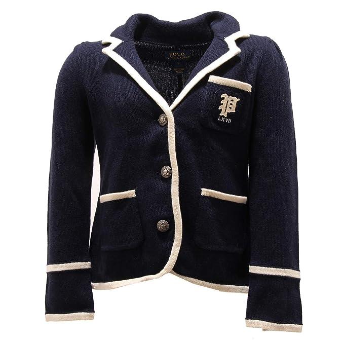 Ralph Lauren 7133O Giacca Girl Blue Cotton/Wool Bimba Jacket: Amazon.es: Ropa y accesorios