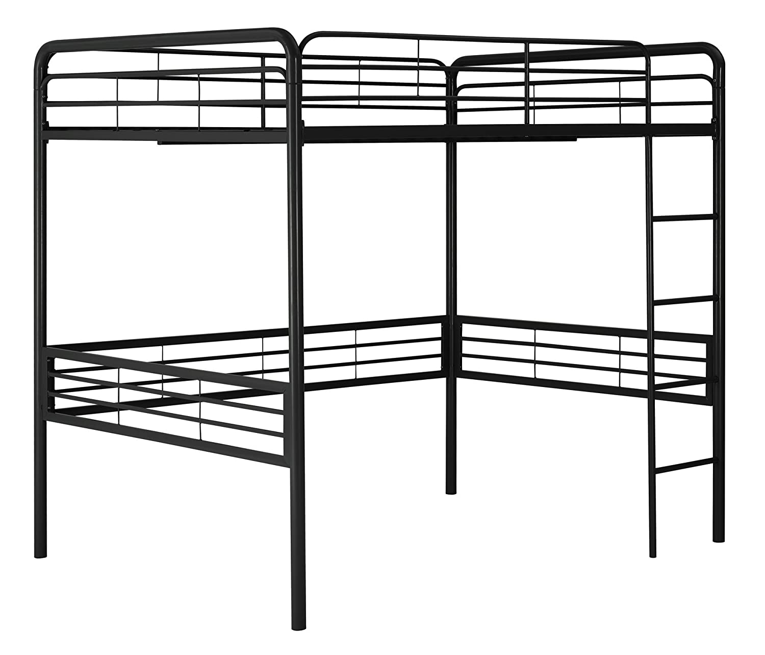 Amazon.com: DHP Full Metal Loft Bed with Ladder, Space-Saving Design ...