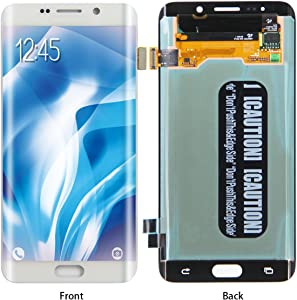 HJSDtech LCD Display Screen Touch Screen Digitizer Assembly Replacement for Samsung Galaxy S6 Edge Plus G928T G928P G928V G928C (White)