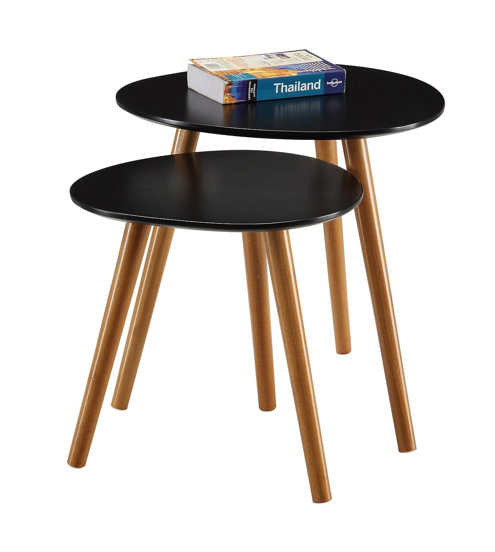 amazon com convenience concepts oslo nesting end tables blue
