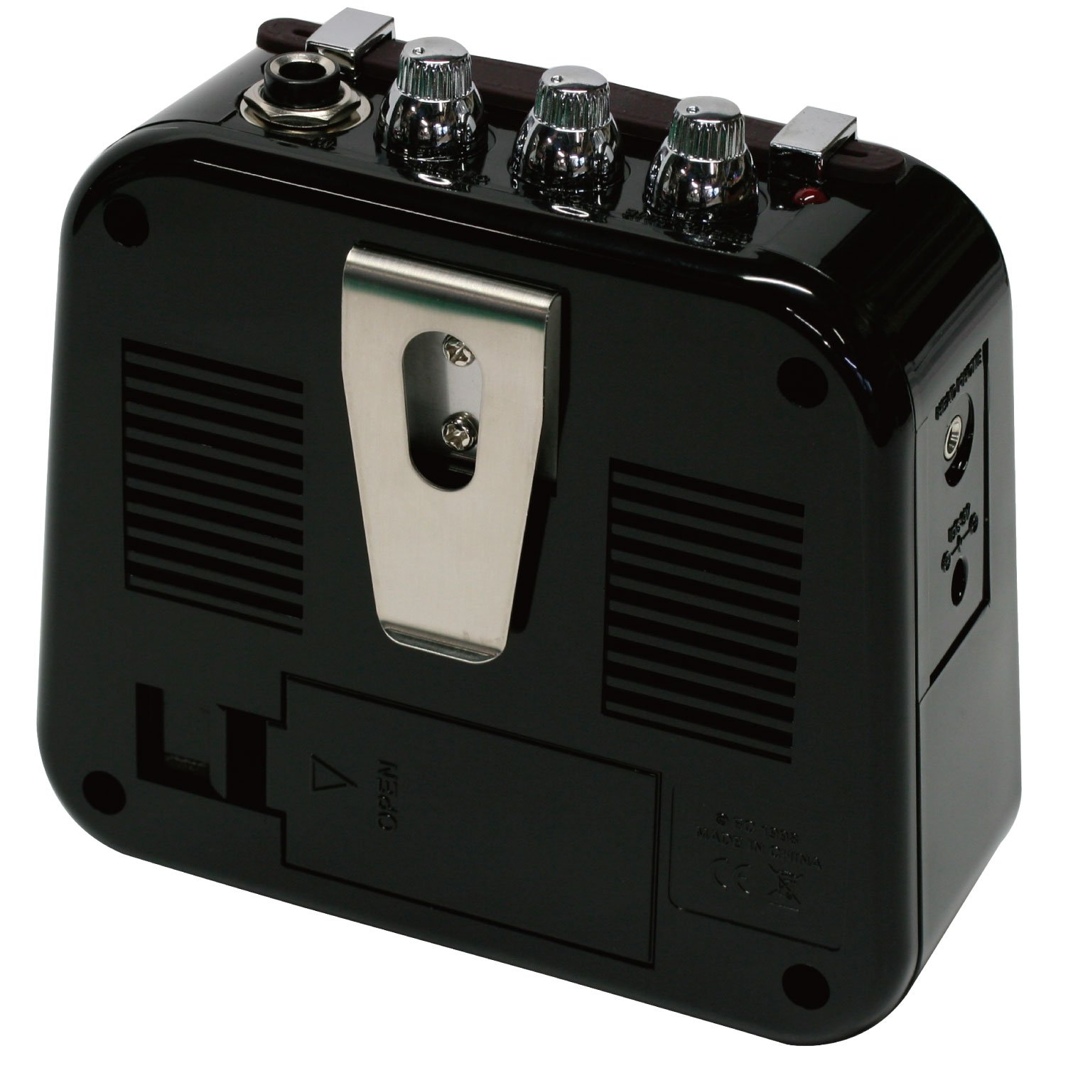 Danelectro Honeytone N-10 Guitar Mini Amp, Black with belt clip by Danelectro (Image #2)