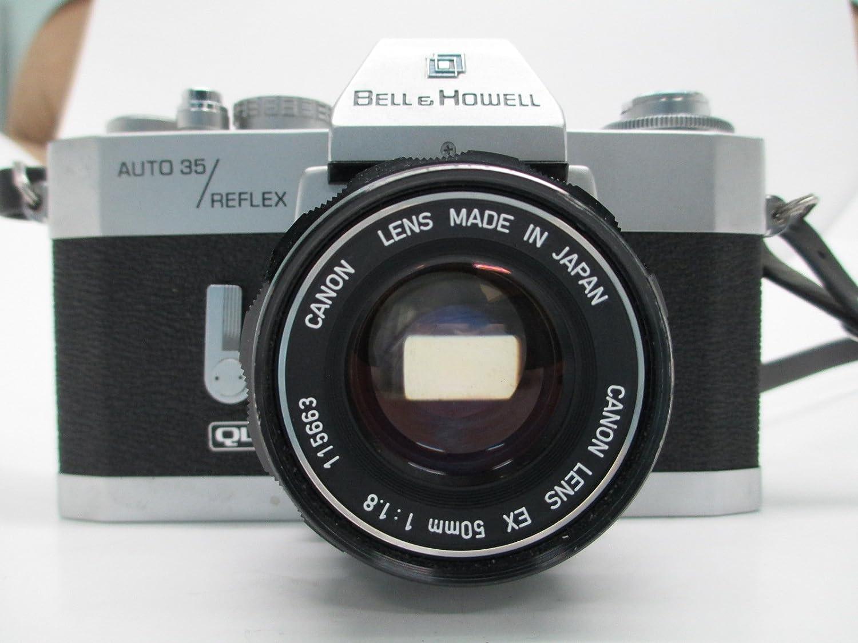 BELL & HOWELL Canon AUTO 35 REFLEX QL 35MM film Camera Canon 50 1:1.8 EX lens
