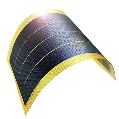 jiang Flexible Solar Panel Solar Power Charger Thin Film DIY 1W 6V Photovoltaic Cells (Yellow)
