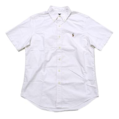 Polo Ralph Lauren Men S Short Sleeved Oxford Shirt Button Up Button