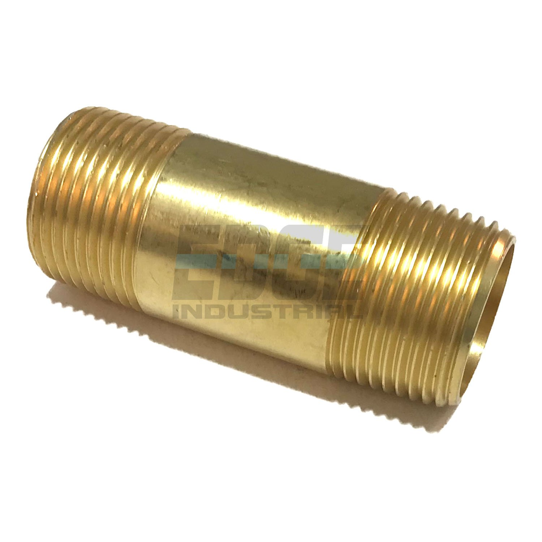 Male NPT MNPT Fuel//AIR//Water//Oil//Gas WOG EDGE INDUSTRIAL Brass Long Nipple 3//4 X 3//4 2-1//2 Length