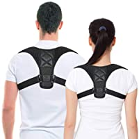 Belletek Back Posture Corrector for Women & Men - Effective and Comfortable Posture Brace/Figure corrector for Slouching & Hunching - Discreet Design - Clavicle Support- Improving Posture-Relief Back Pain