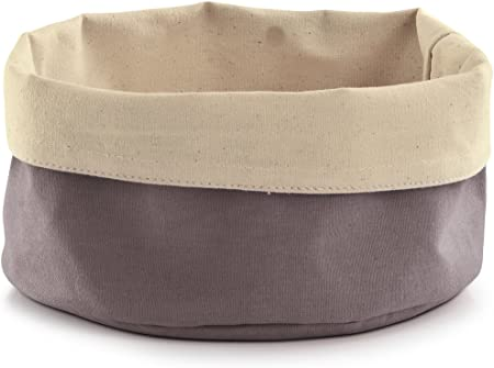 Práctico contenedor funcional,De algodón,Diseño bicolor,Medidas: Ø20x12 cm,Todas las medidas son med