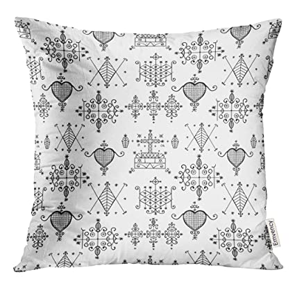 Amazon com: Golee Throw Pillow Cover Voodoo Spirits Symbols Seals of