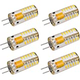 LJY 6-Pack G4 48-LED Warm White Light Crystal Bulb Lamps 3 Watt AC DC 12V Non-dimmable Equivalent to 20W Incandescent Bulb Replacement LED Bulbs