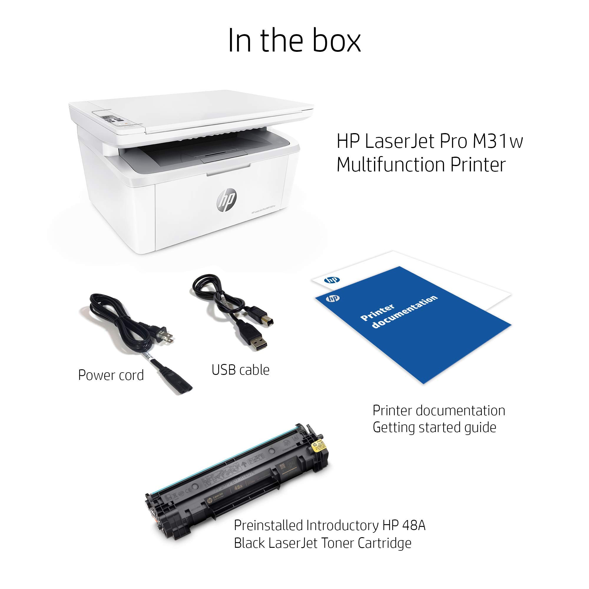 HP Laserjet Pro M31w All-in-One Wireless Monochrome Laser Printer with Mobile Printing (Y5S55A) (Renewed) by HP (Image #5)
