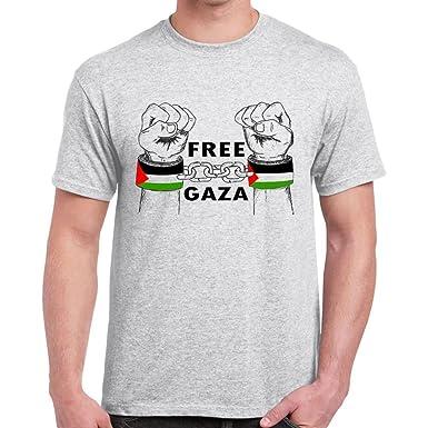 Womens Novelty Printed T shirts-Free Palestine-Free Gaza Hand Symb-Womens Gifts
