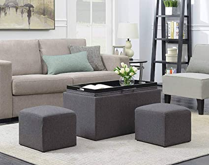 Swell Amazon Com Storage Bench Set Fabric Material For Living Dailytribune Chair Design For Home Dailytribuneorg