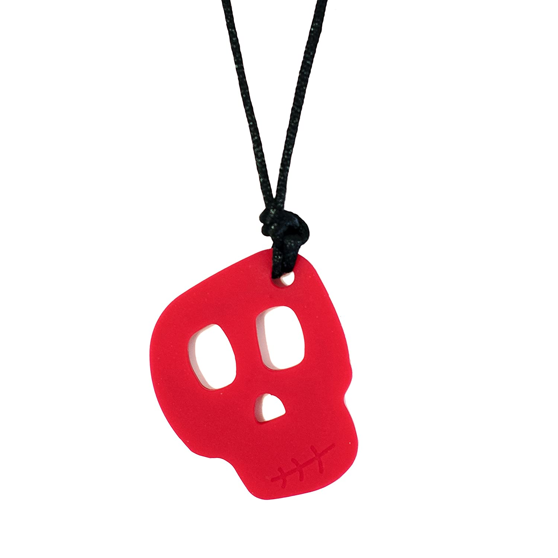 Amazon Skull Pendant Veteran Chew Necklace for Sensory