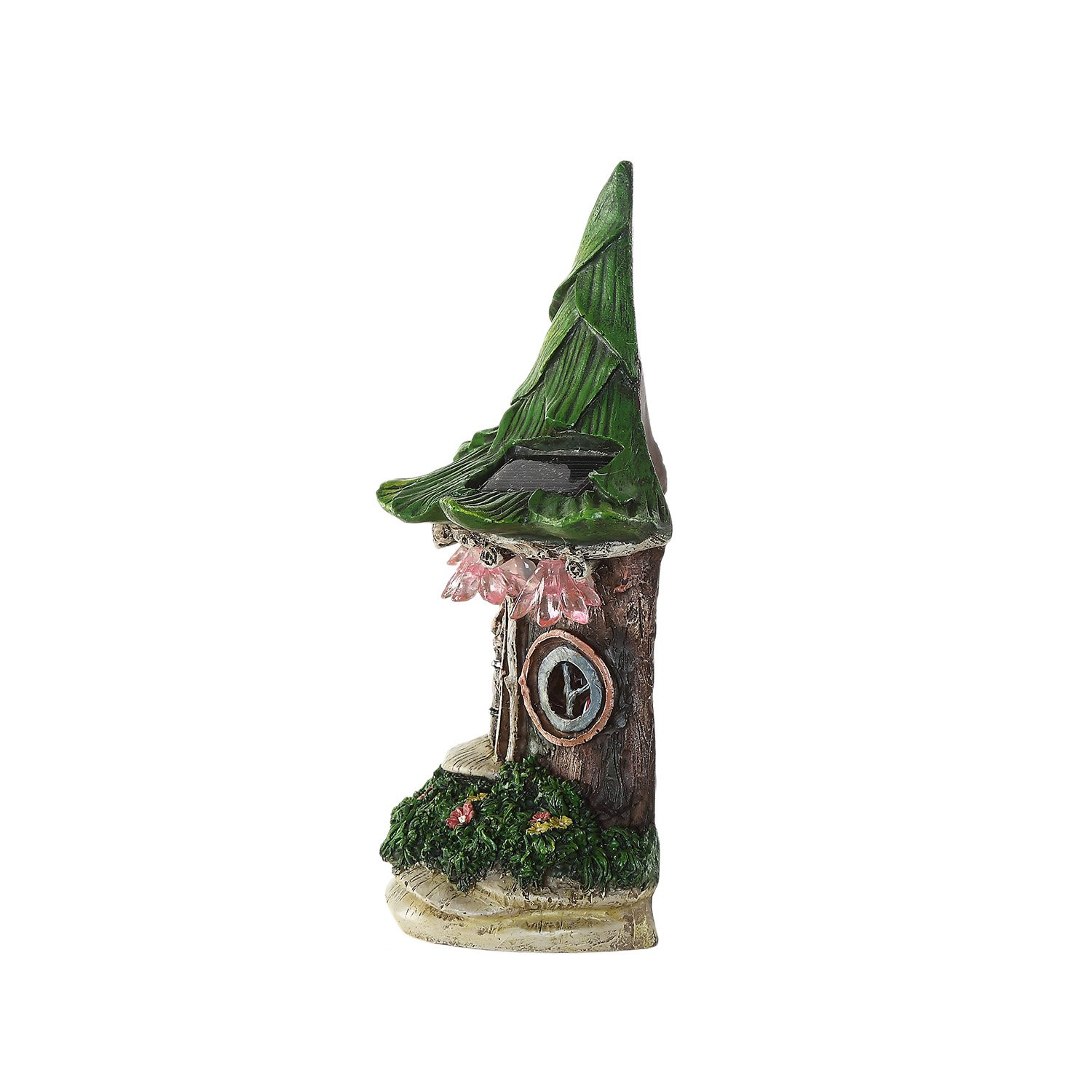 Ivy Home Solar Powered Garden Fairy Statues Tree Hanging Resin Fairy House by Ivy Home (Image #5)