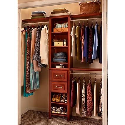 Gentil Closetmaid Impressions 16 In. Dark Cherry Narrow Closet Kit 30850