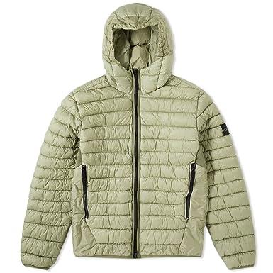 Green stone island puffa jacket