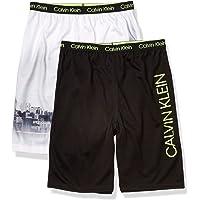 Calvin Klein Pantalones Cortos de Pijama de algodón, 2 Unidades Parte Inferior de Pijama para Niños