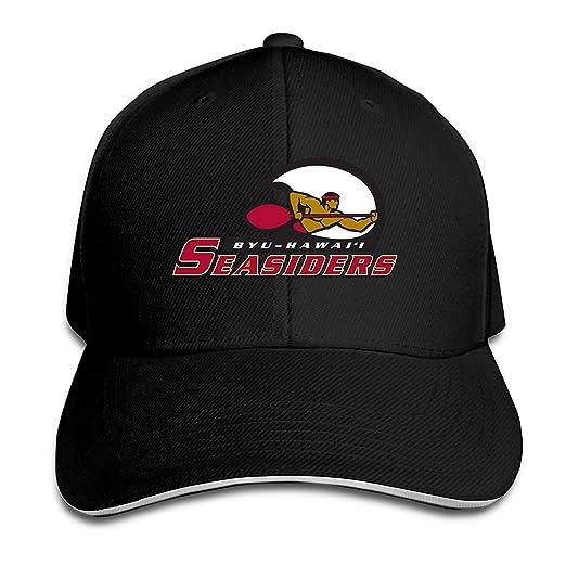 Amazon.com  BYU Hawaii Seasiders Fitted Sandwich Baseball Cap Hat ... 418ba3f1053