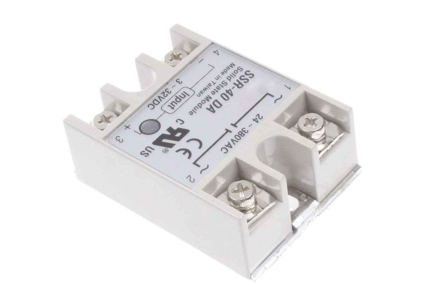 Ssr 40da Solid State Relay Single Phase Semi Conductor Dcsolidstaterelays Relaycontrol Controlcircuit Circuit Dc Control Ac Input 3 32v Output 24 380v Home Improvement