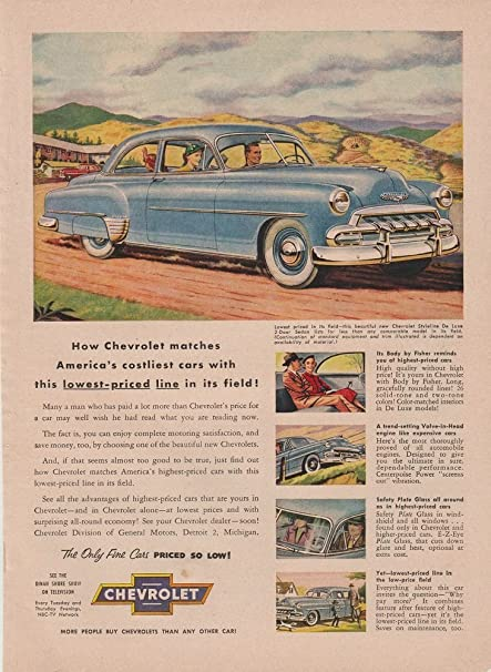 Amazon 1952 Chevrolet Styleline Deluxe 2 Door Sedan How