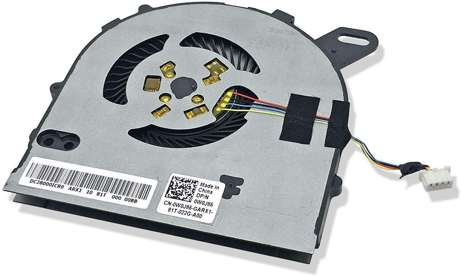 CAQL CPU Cooling Fan for Inspiron 15 7560 15-7560 15-7572 / Vostro 5468 5568 Series, P/N: DC028000ICR0 0W0J85 W0J85