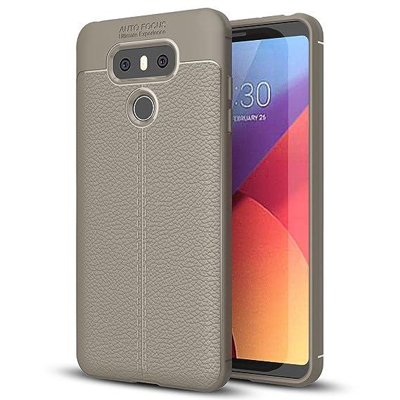 new concept ec4ee fcd44 Amazon.com: LG G6 Case, LG G6 Faux Leather Case, Soft Case Anti-Slip ...