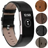 For Fitbit Charge 2 Wristbands/Fitbit Charge 2 Bands//Fitbit Charge 2 Replacement Bands/Fitbit Charge 2 Accessories, VOMA Design Genuine Leather Bands