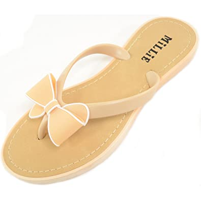 5a26e1e18ab24 Ladies   Womens Summer   Holiday   Beach Millie Bow Sandal   Shoes   Flip  Flops