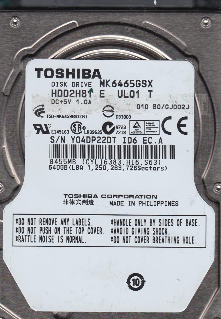 TOSHIBA HDD2H81 TREIBER WINDOWS 8