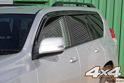 Autoclover Juego de deflectores de Viento para Toyota Land Cruiser 150 2009-2015 6 Unidades