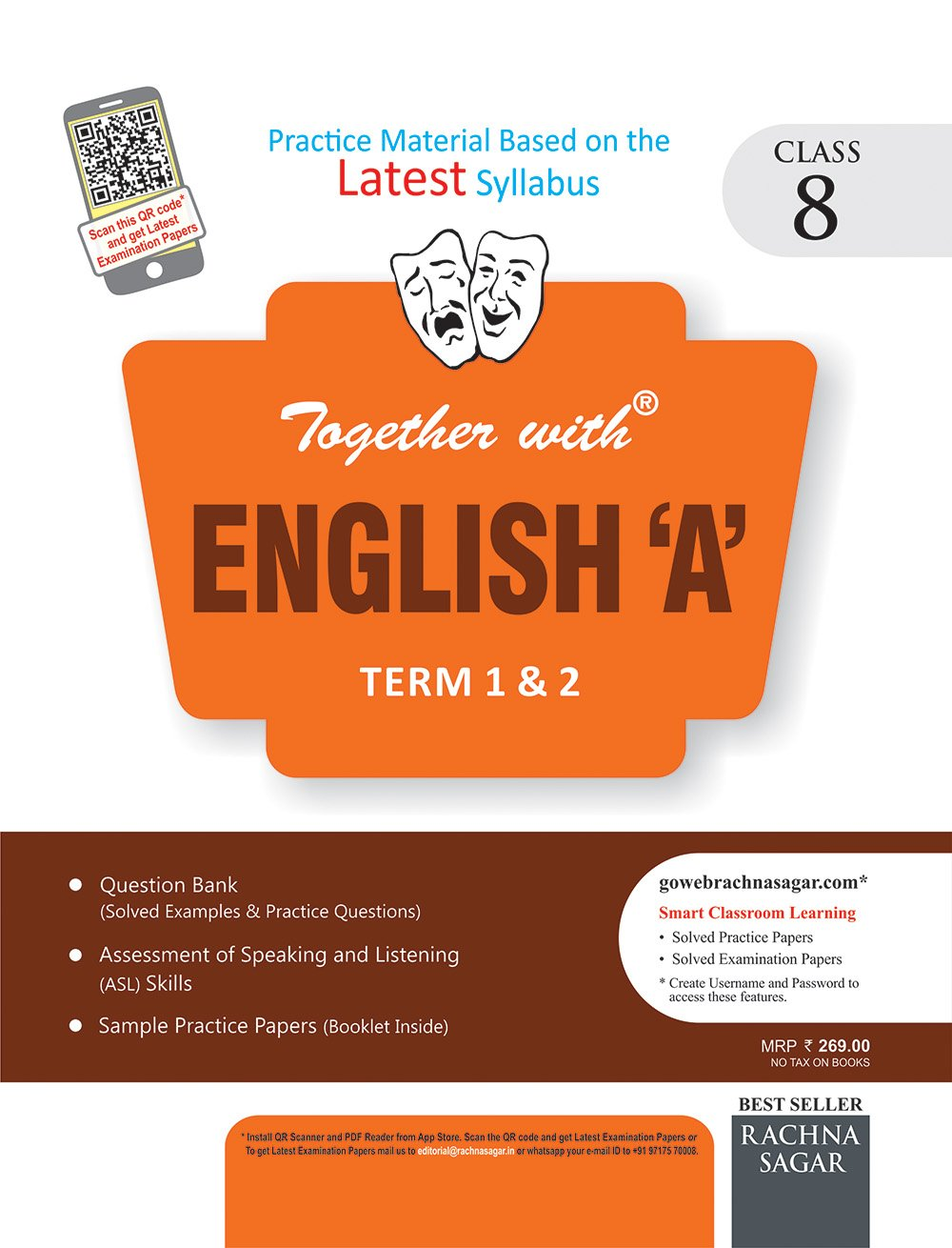 Together with Practice Material for Class 8 English A DAV Term 1 & 2