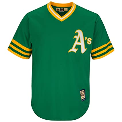 on sale 013ac 0c34d Majestic Oakland Athletics Cooperstown Cool Base Retro Green Jersey