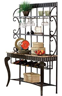 Steve Silver Company HL500BR Hamlyn Bakers Rack Bronze Finish